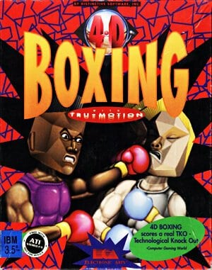 4D Sports Boxing DOS front cover