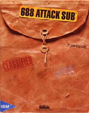 688 Attack Sub DOS front cover