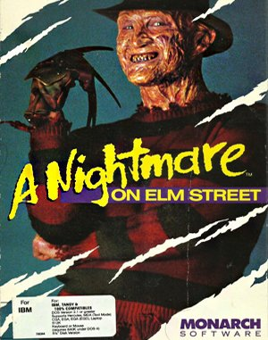 A Nightmare on Elm Street DOS front cover