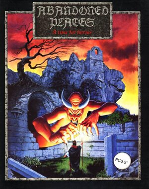 Abandoned Places: A Time for Heroes DOS front cover