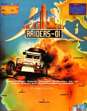 African Raiders-01 DOS front cover