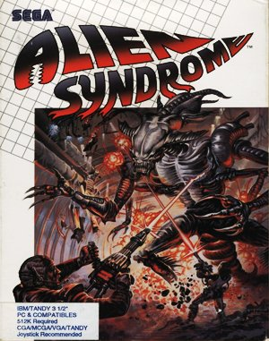 Alien Syndrome DOS front cover