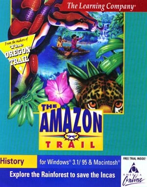 The Amazon Trail DOS front cover