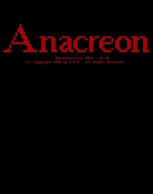 Anacreon: Reconstruction 4021 DOS front cover