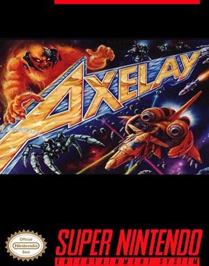 Axelay SNES front cover
