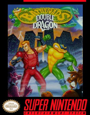 Battletoads / Double Dragon SNES front cover