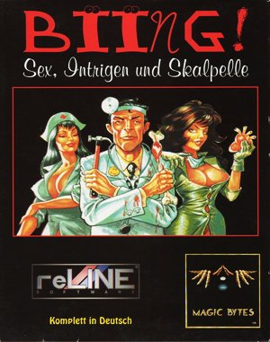 Biing!: Sex, Intrigue and Scalpels DOS front cover