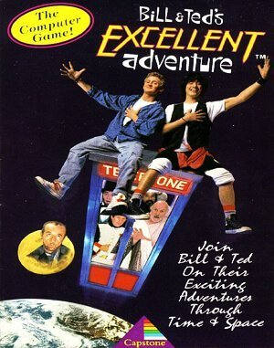 Bill and Ted's Excellent Adventure DOS front cover