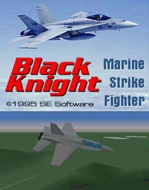 Black Knight: Marine Strike Fighter DOS front cover