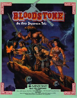 Bloodstone: An Epic Dwarven Tale DOS front cover