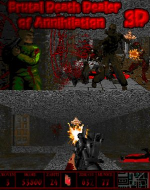 Brutal Death Dealer of Annihilation 3D DOS front cover