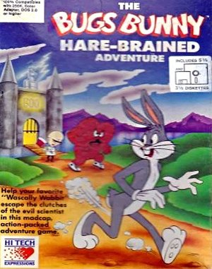 The Bugs Bunny Hare-Brained Adventure DOS front cover