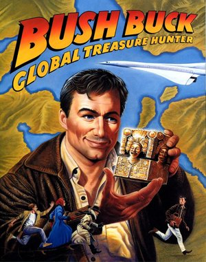 Bush Buck: Global Treasure Hunter DOS front cover