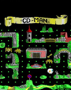 CD-Man DOS front cover