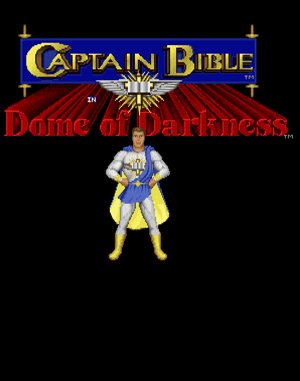 Captain Bible in Dome of Darkness DOS front cover