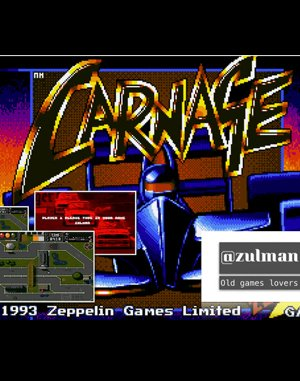 Carnage DOS front cover