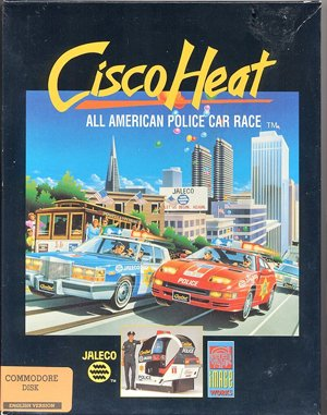 Cisco Heat: All American Police Car Race DOS front cover