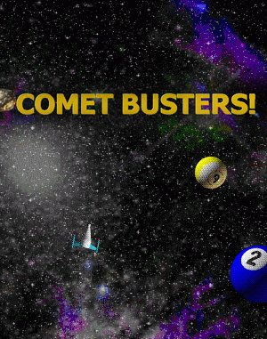 Comet Busters! DOS front cover