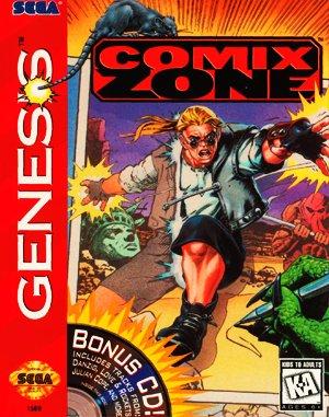 Comix Zone Sega Genesis front cover