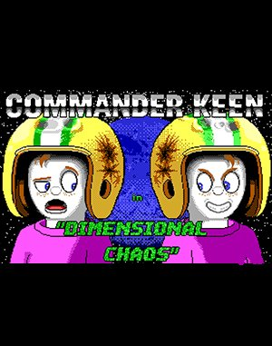Commander Keen 10: Mirror Menace DOS front cover