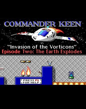 Commander Keen 2: The Earth Explodes DOS front cover
