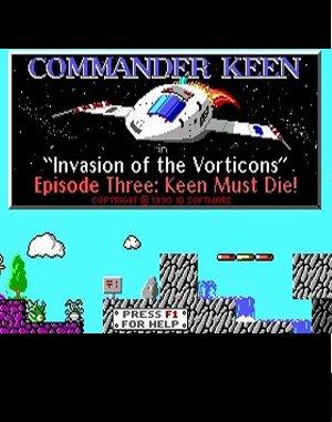 Commander Keen 3: Keen Must Die! DOS front cover