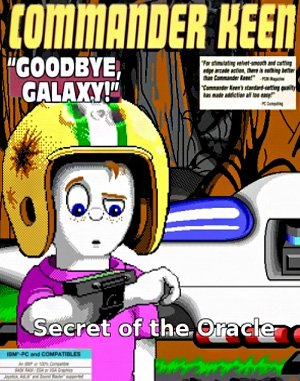 Commander Keen 4: Secret of the Oracle DOS front cover