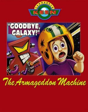 Commander Keen 5: The Armageddon Machine DOS front cover