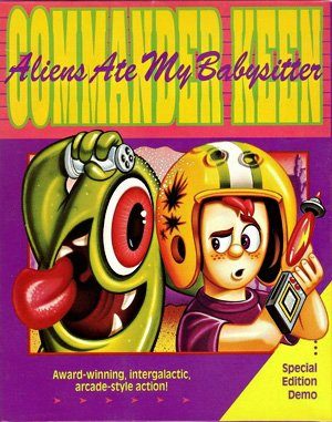 Commander Keen 6: Aliens Ate my Baby Sitter DOS front cover