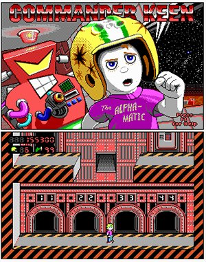 Commander Keen: The Alphamatic DOS front cover