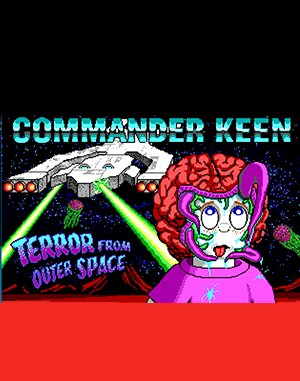 Commander Keen: The Terror from Outer Space DOS front cover