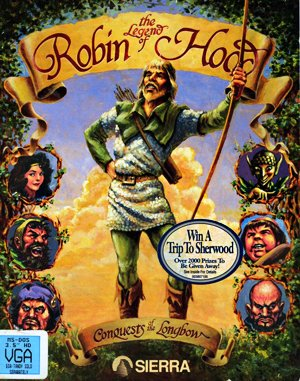Conquests of the Longbow: The Legend of Robin Hood DOS front cover