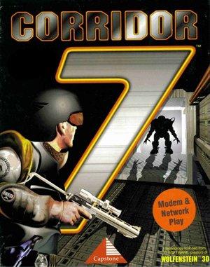 Corridor 7: Alien Invasion DOS front cover