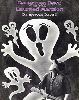 Dangerous Dave in the Haunted Mansion DOS front cover