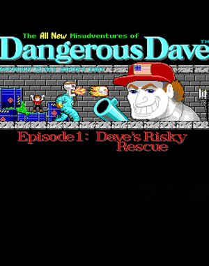 Dangerous Dave's Risky Rescue DOS front cover