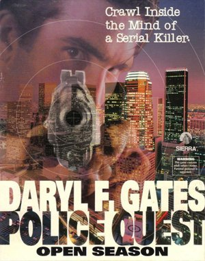 Daryl F. Gates' Police Quest: Open Season DOS front cover
