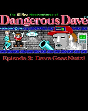 Dave Goes Nutz DOS front cover