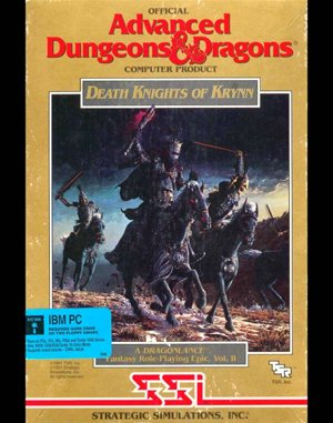 Death Knights of Krynn DOS front cover