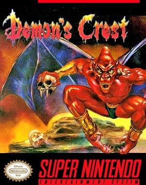 Demon's Crest SNES front cover
