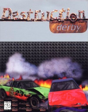 Destruction Derby DOS front cover