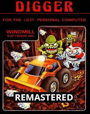 Digger Remastered DOS front cover