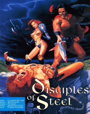 Disciples of Steel DOS front cover