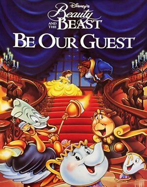Disney's Beauty and the Beast – Be Our Guest DOS front cover