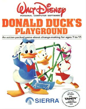 Donald Duck's Playground DOS front cover