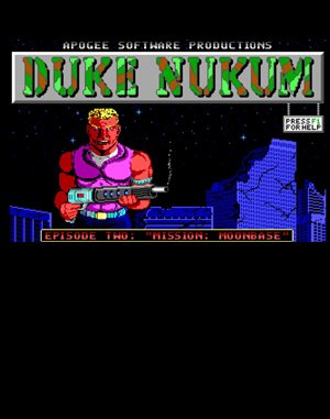Duke Nukum: Episode 2 – Mission: Moonbase DOS front cover
