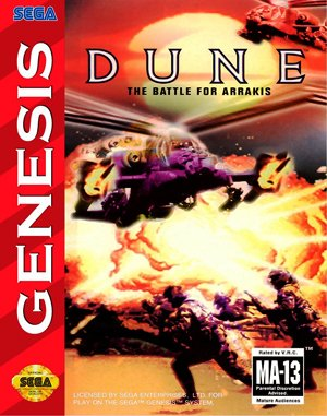 Dune: The Battle for Arrakis Sega Genesis front cover