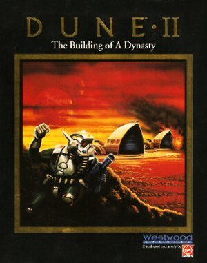 Dune II: The Building of a Dynasty DOS front cover
