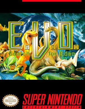 E.V.O.: Search for Eden SNES front cover