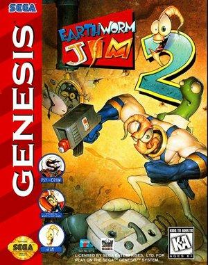 Earthworm Jim 2 Sega Genesis front cover