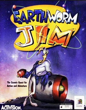 Earthworm Jim DOS front cover